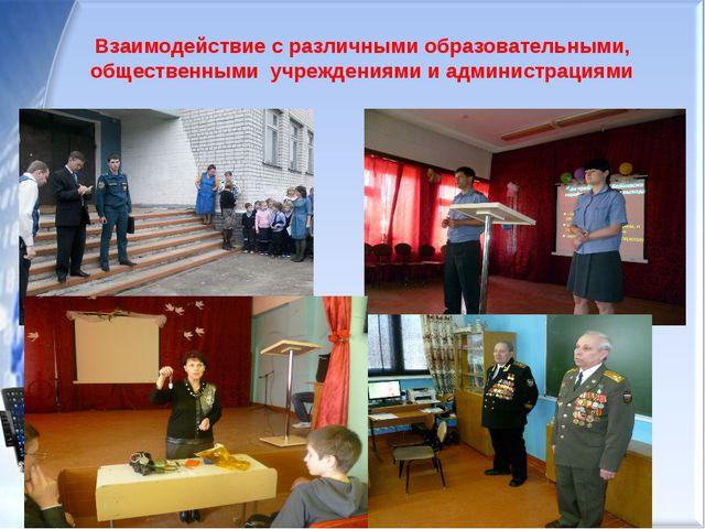 Схема сотрудничества Взаимодействие с различными образовательными, общественн...