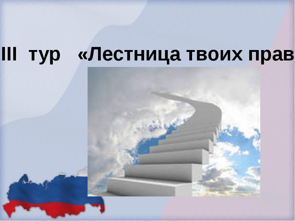 III тур «Лестница твоих прав»