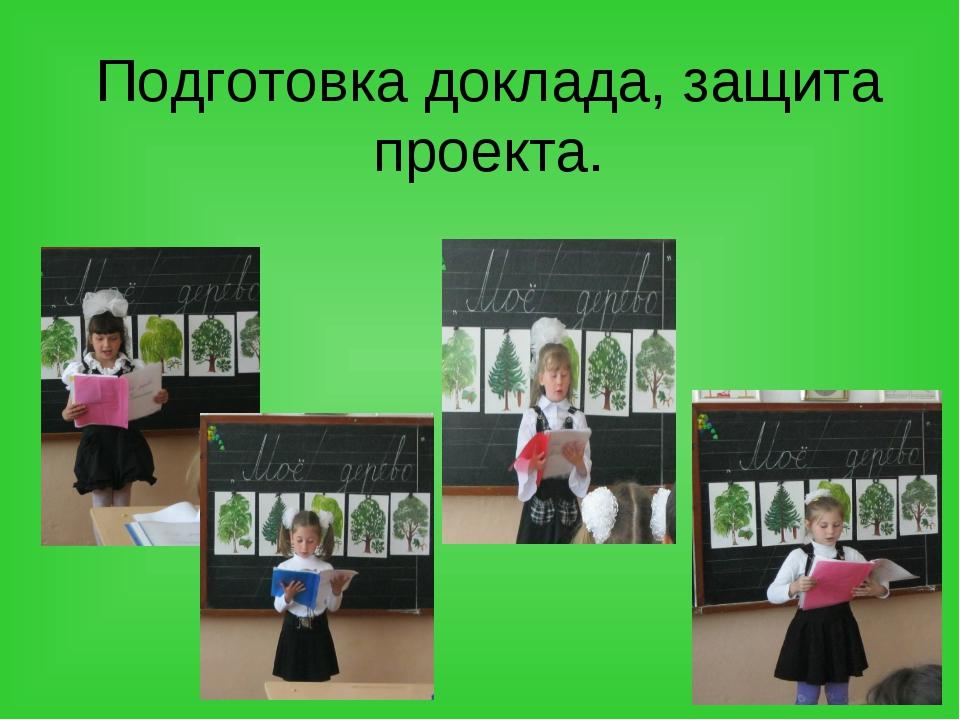 Подготовка доклада, защита проекта.