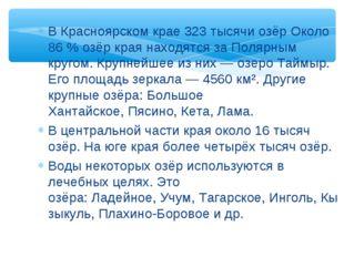 В Красноярском крае 323 тысячиозёрОколо 86% озёр края находятся заПолярны