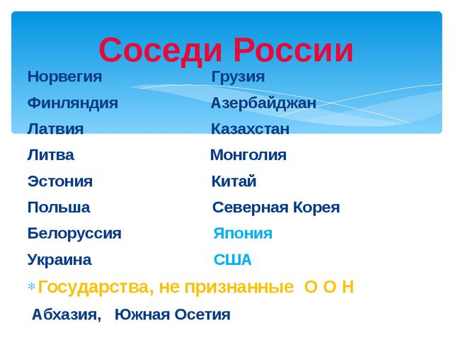 Норвегия Грузия Финляндия Азербайджан Латвия Казахстан Литва Монголия Эстония...
