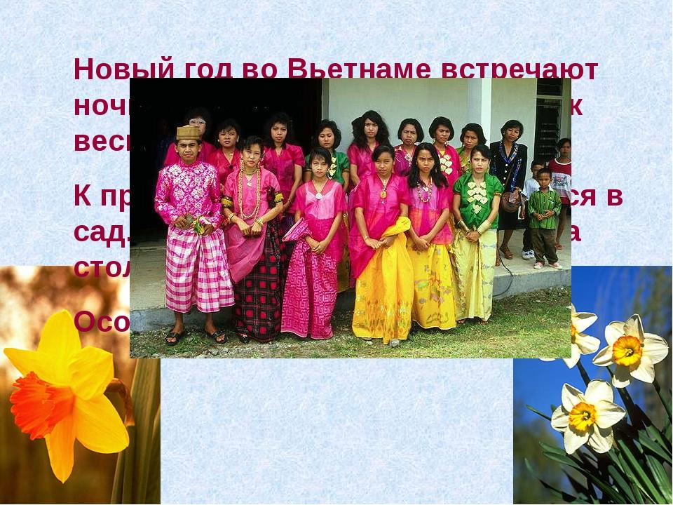 Новый год во Вьетнаме встречают ночью. Новый год— это праздник весны, Тет. К...
