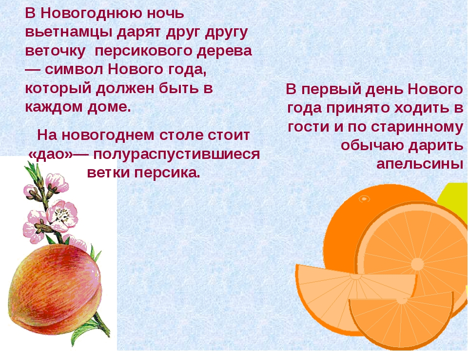 В Новогоднюю ночь вьетнамцы дарят друг другу веточку персикового дерева— симв...