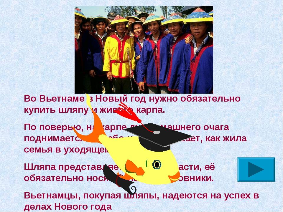Во Вьетнаме в Новый год нужно обязательно купить шляпу и живого карпа. По пов...