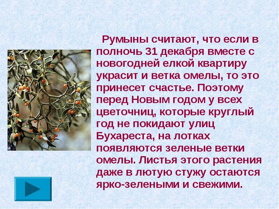 Румыны считают, что если в полночь 31 декабря вместе с новогодней елкой кварт...