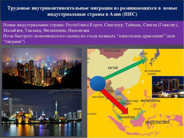 Трудовые внутриконтинентальные миграция из развивающихся в новые индустриальн...