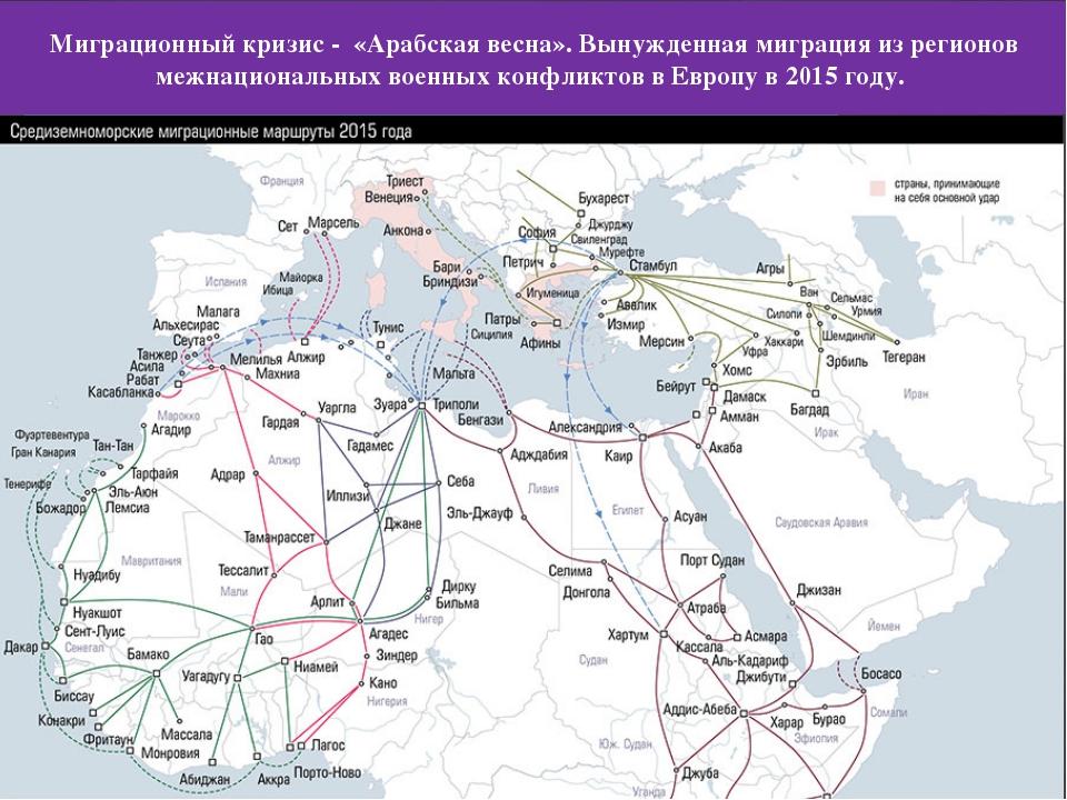 Миграционный кризис - «Арабская весна». Вынужденная миграция из регионов межн...