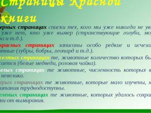 Страницы Красной книги На черных страницах списки тех, кого мы уже никогда не