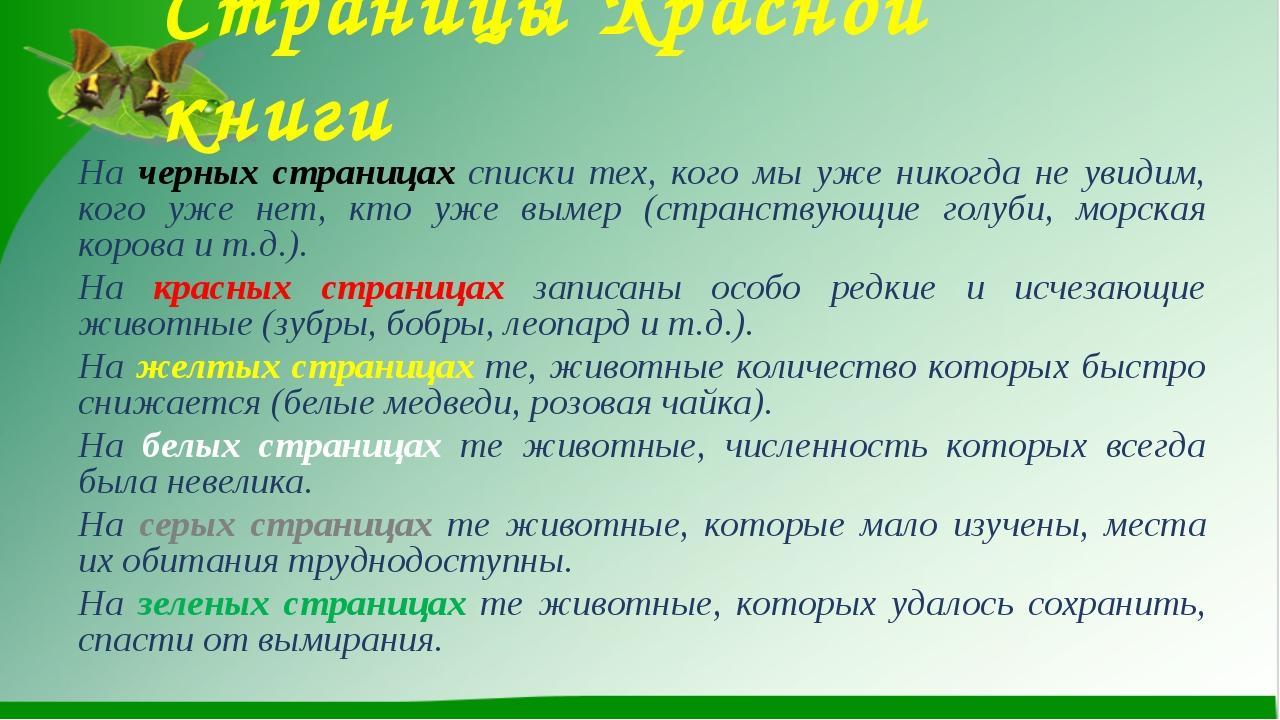 Страницы Красной книги На черных страницах списки тех, кого мы уже никогда не...