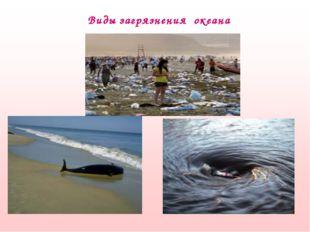 Виды загрязнения океана