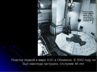 Реактор первой в мире АЭС в Обнинске. В 2002 году он был навсегда заглушен, о