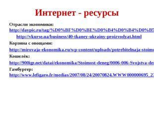 Интернет - ресурсы Отрасли экономики: http://daypic.ru/tag/%D0%BF%D0%BE%D0%B4
