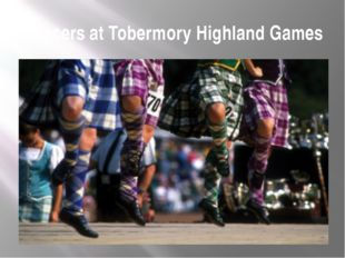 Dancers at Tobermory Highland Games