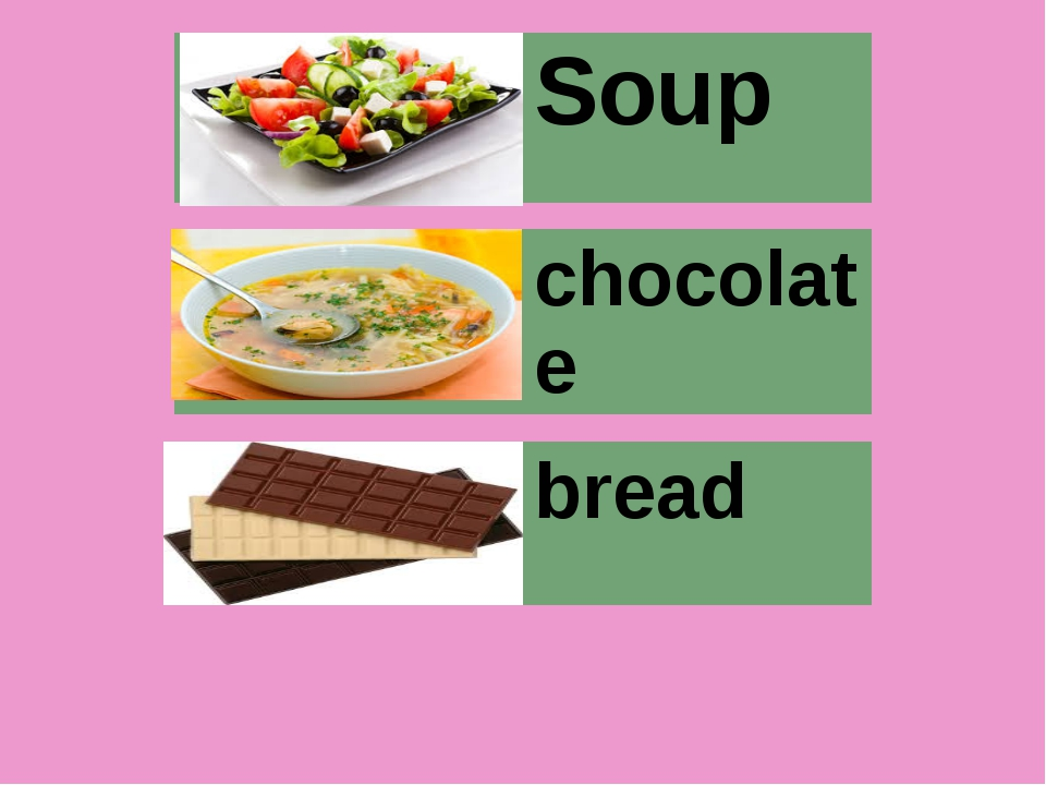 Soup chocolate bread