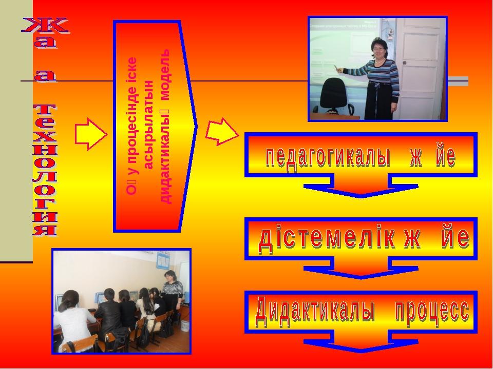 Оқу процесінде іске асырылатын дидактикалық модель