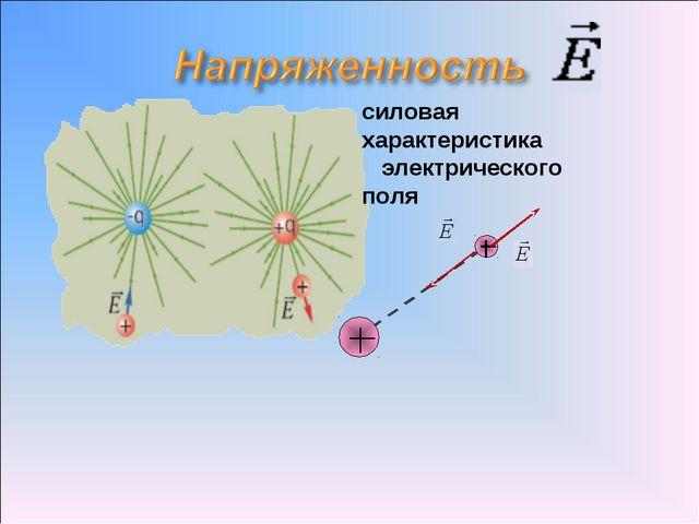силовая характеристика электрического поля