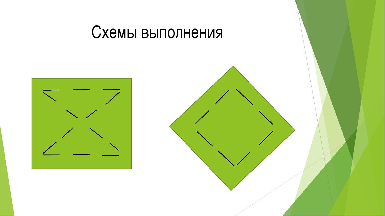 Схемы выполнения