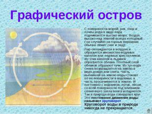 Графический остров С поверхности морей, рек, озер и почвы вода в виде пара по