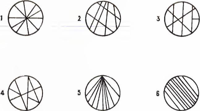 Сосчитать число частей в кругах
