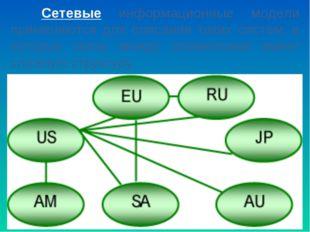 Сетевые информационные модели применяются для описания таких систем, в котор