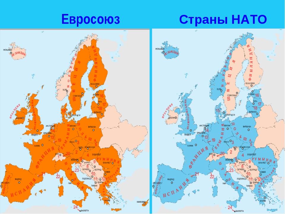 Евросоюз Страны НАТО