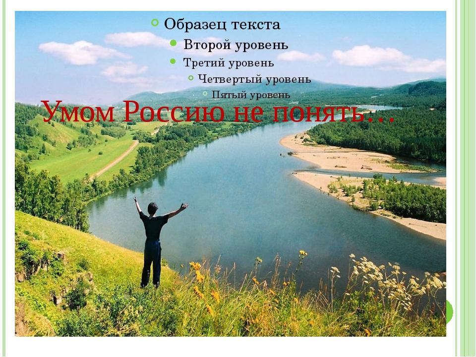 Умом Россию не понять…