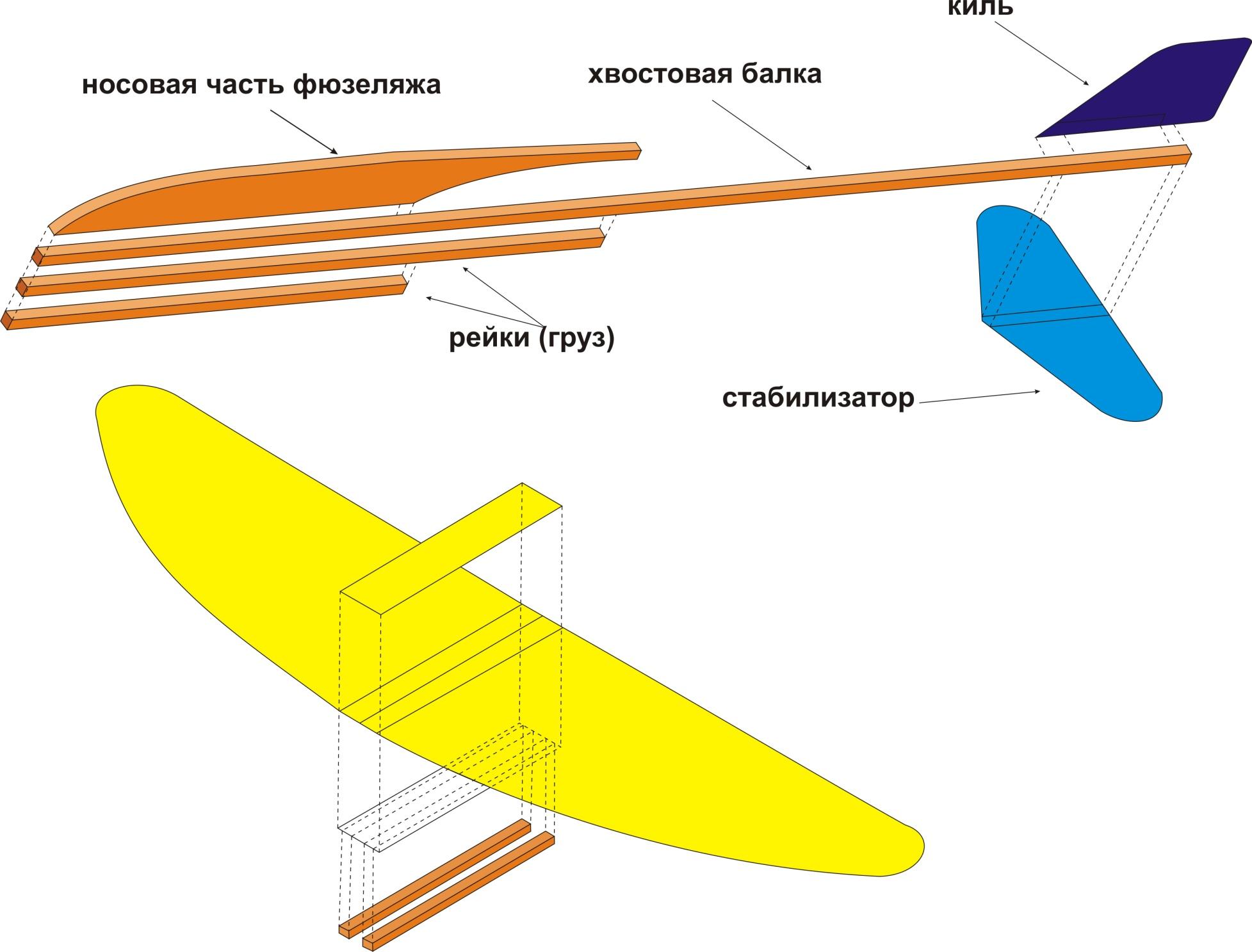 Планер из потолочки схема