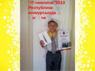 """""""IT-чемпион""""2013 Республика конкурсында җиңүче"""