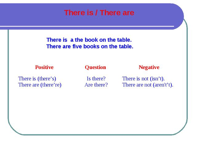 There is a the book on the table. There are five books on the table. There is...