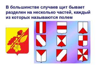 В большинстве случаев щит бывает разделен на несколько частей, каждый из кото