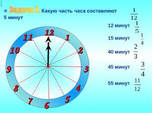 1 2 3 9 6 12 11 10 8 7 4 5 12 минут 15 минут 40 минут 45 минут 55 минут