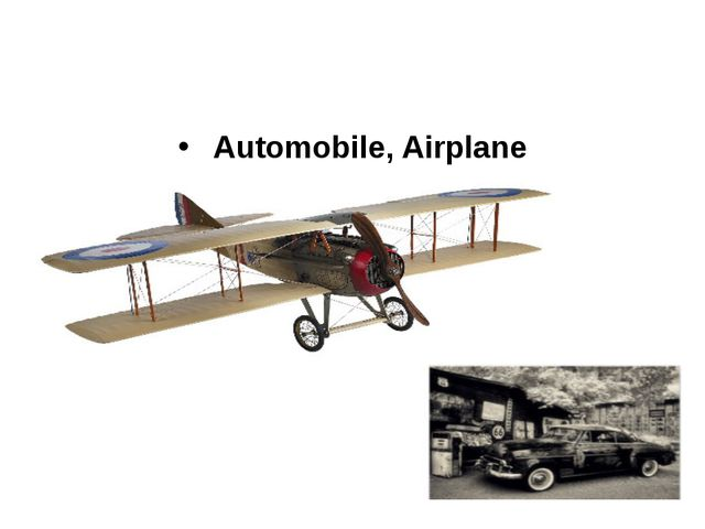 Automobile, Airplane