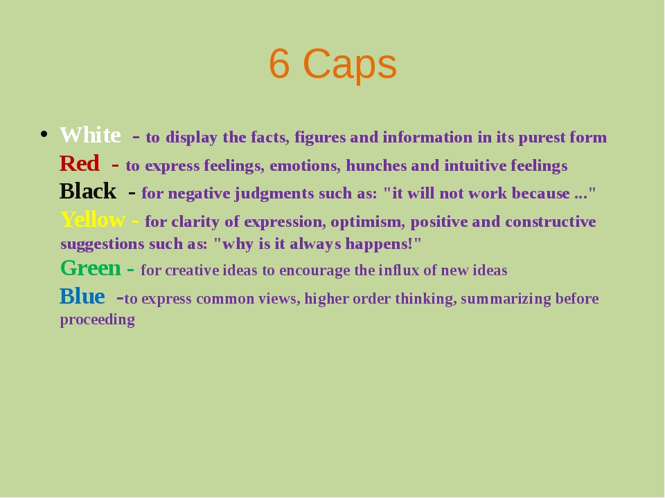 6 Caps White - to display the facts, figures and information in its purest fo...
