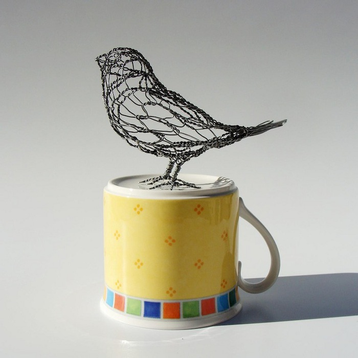 Птица из проволоки