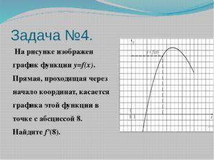 Задача №4. На рисунке изображен график функцииy=f(x). Прямая, проходящая че