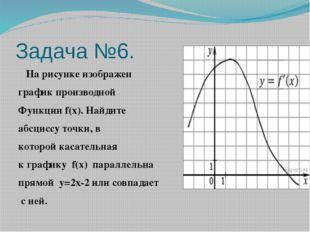 Задача №6.  На рисунке изображен график производной Функции f(x). Найдите аб