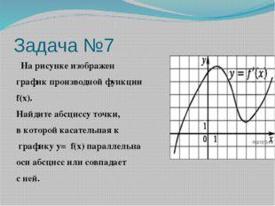 Задача №7  На рисунке изображен график производной функции f(x). Найдите абс