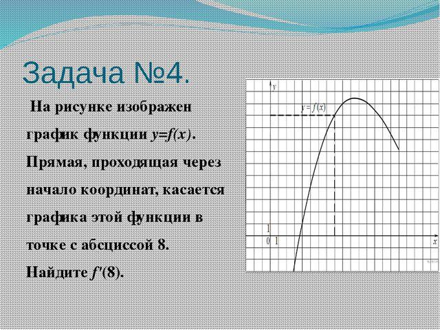 Задача №4. На рисунке изображен график функцииy=f(x). Прямая, проходящая че...