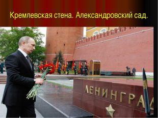 Кремлевская стена. Александровский сад.