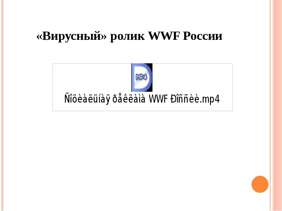 «Вирусный» ролик WWF России