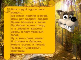 Георгий Петровский Волк худой вдоль леса бродит... Аж живот прилип к спине. Д