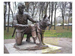 Собак не поминают поименно, Им не дают наград и орденов, Но все же должен по