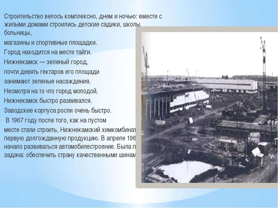 Строительство велось комплексно, днем и ночью: вместе с жилыми домами строили...