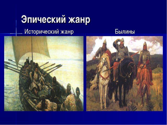 Эпический жанр Исторический жанр Былины