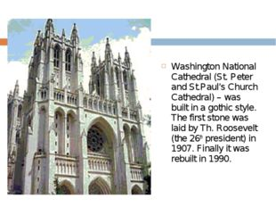 Washington National Cathedral (St. Peter and St.Paul's Church Cathedral) – wa