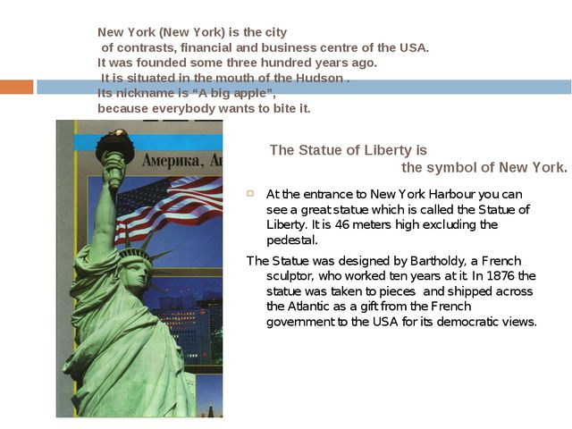 At the entrance to New York Harbour you can see a great statue which is call...