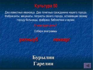 Культура 50 Два известных ивановца. Два почетных гражданина нашего города. Фа