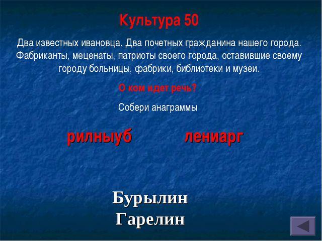 Культура 50 Два известных ивановца. Два почетных гражданина нашего города. Фа...