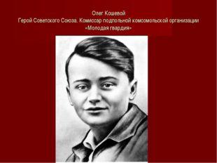 Олег Кошевой Герой Советского Союза. Комиссар подпольной комсомольской органи