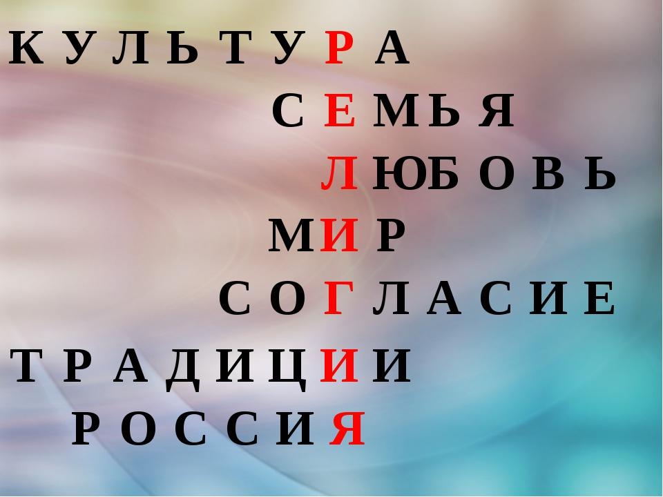 КУЛЬТУРА СЕМЬЯ ЛЮБОВЬ МИР СО...